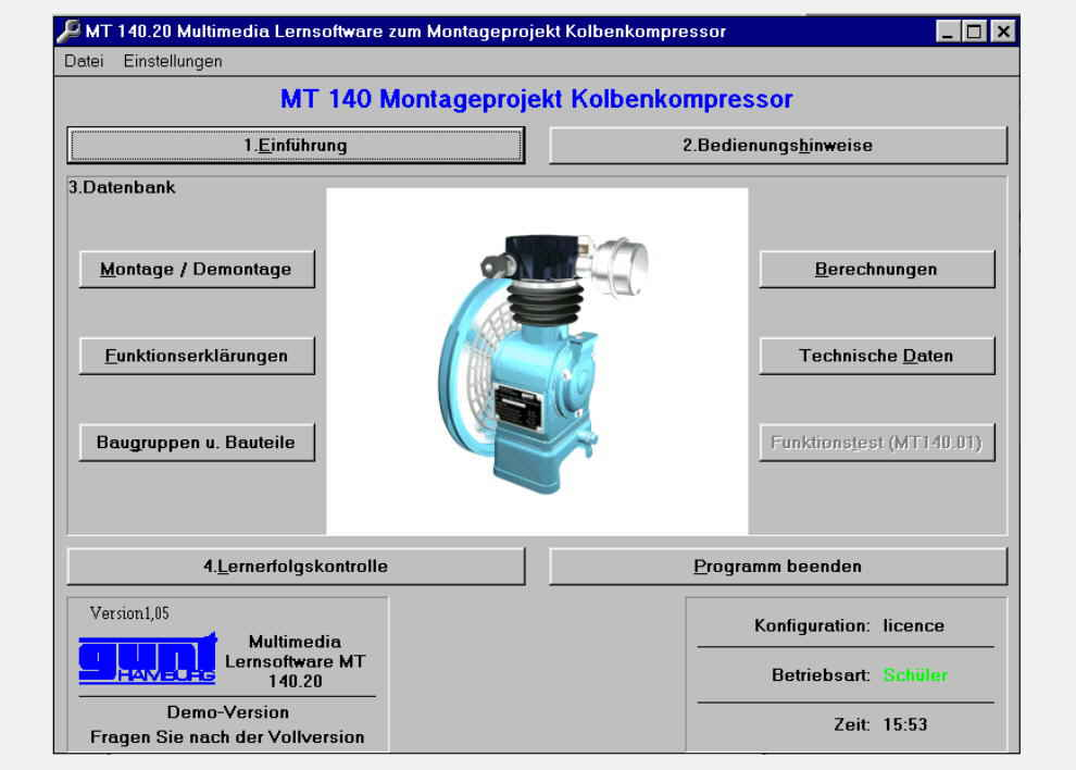 Multimedia Learning Software: Piston Compressor